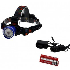 چراغ پیشانی و هدلایت 2 باطری شارژی تک لامپ T6