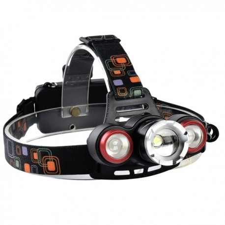 چراغ پیشانی و هدلایت تک باتری سه لامپه T6 مدل XQ-117-T6
