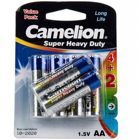 باتری قلمی کملیون بسته 6 عددی